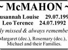 McMahon - Susannah Luise & Leo Terence
