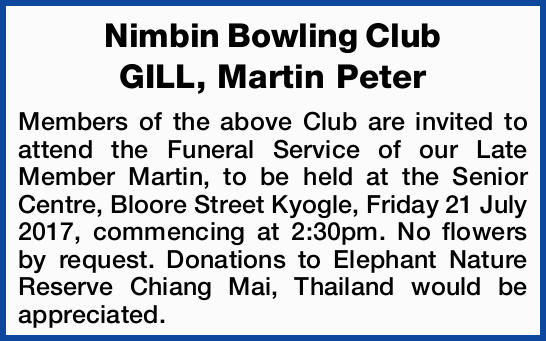 GILL, Martin Peter