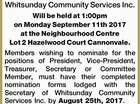 ANNUAL GENERAL MEETING Of Whitsunday Community Services Inc.