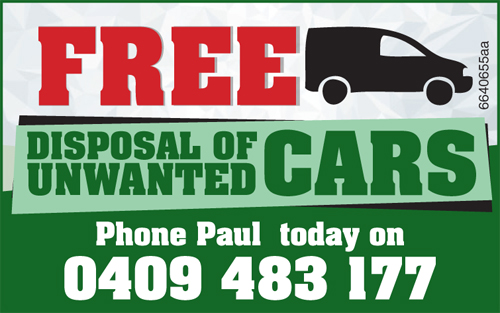 FREE Disposal of Unwanted cars