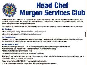Head Chef - Murgon Services Club