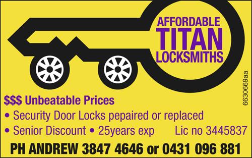 Lic no 3445837  25years exp  Senior Discount  Security Door Locks pepaired or...