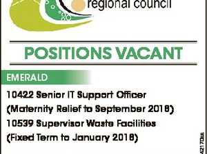 POSITIONS VACANT EMERALD