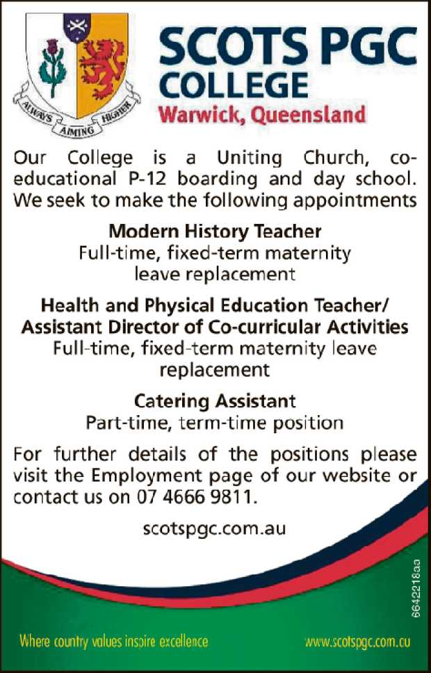 Our College is a Uniting Church, co-educational P-12 boarding and day school. We seek to make the...