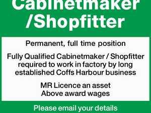 Cabinetmaker /Shopfitter