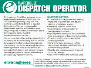 WAREHOUSE DISPATCH OPERATOR