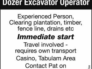 Dozer Excavator Operator