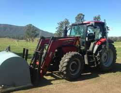 Case IH tractor,2008 FWA/4WD cab tractor/loader,110Hp,diesel,Fitted with Challenge front-end loader...