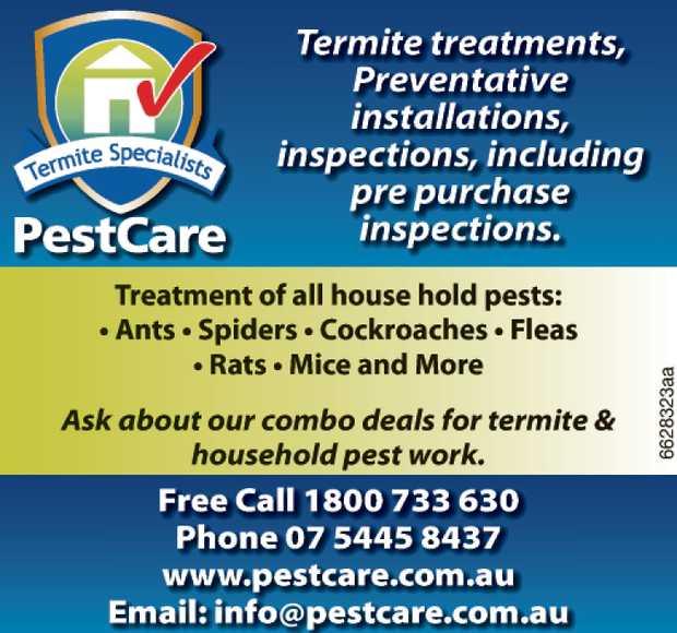 Termite Treaments   Preventative Installations   Inspections including pre purchse inspec...