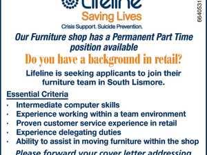 Furniture shop position