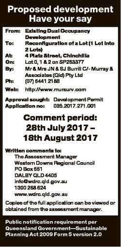Proposed development Have your say From: Existing Dual Occupancy Development To: Reconfiguration of...