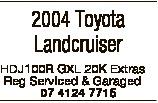 2004 Toyota Landcruiser HDJ100R GXL