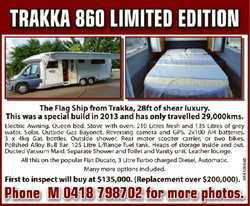 The Flag Ship from Trakka, 28ft of shear luxury.   This was a special build in 2013 and...