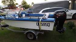 Easy Rider Fibreglass Boat with Suzuki Outboard 4 Stroke 70hp.  11 Months Rego on trailer.  Many ext...