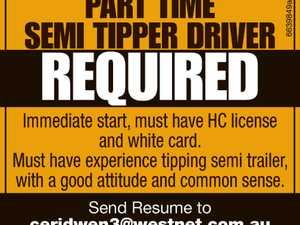 Part Time Semi Tipper Driver