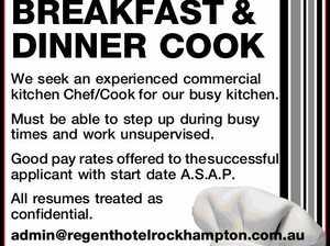 BREAKFAST & DINNER COOK