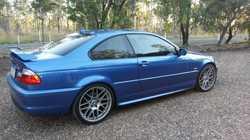 estoril blue, sunroof, rear spoiler, tinted windows, 19 inch alloy wheels. M badging. Individual bui...