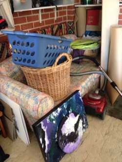 Garage Sale, Original art and house hold furniture, appliances, etc
