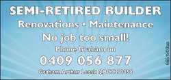 Renovations Maintenance   No job too small!    Phone Graham on 0409 056 877   Gra...