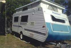 "MADISON 17' 6"" Pop Top Caravan single axle, new tyres, 6 mths rego, been serviced, as..."