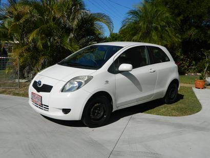 TOYOTA YARIS 2-door hatch, auto, A/C, 2008, 2 new tyres, service book history, RWC, VGC, rego, $4...