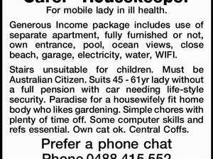 Carer - Housekeeper