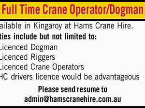 Full Time Crane Operator/Dogman Available