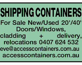 SHIPPING CONTAINERS For Sale New/Used 20'/40' Doors/Windows, cladding + delivery, relocat...