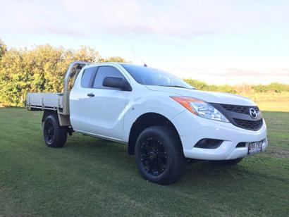 MAZDA BT50 4x2 2014 white freestyle cab Alloy tray 62000kms $24,600 o.n.o VGC   Phone 0423922...