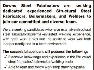 STRUCTURAL STEEL FABRICATORS, BOILERMAKERS & WELDERS