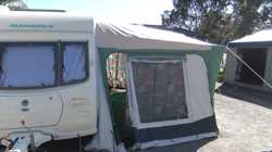 full annex with removable sides,sola ,remote movers,shower/toilet,3 way fridge,gas/elec hot water an...