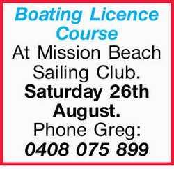At Mission Beach Sailing Club.   Saturday 26th August.