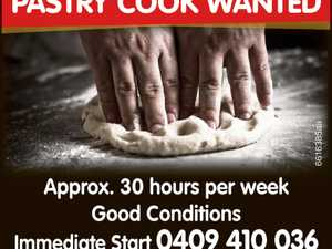 PASTRY COOK WANTED