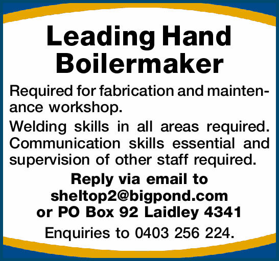 Leading Hand Boilermaker