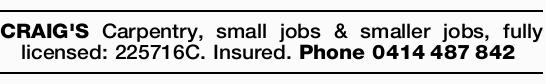 Small jobs & smaller jobs,