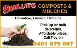 COMPOSTS & MULCHES Household, Farming, Orchards. Pick up or bulk deliveries. Affordable prices....