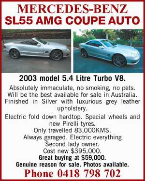 MERCEDES-BENZ SL55 AMG COUPE AUTO