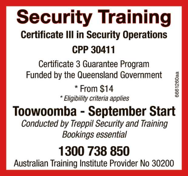 Security Training   CPP 30411 - Certificate 3 in Security Operations   Certificate 3 Guar...