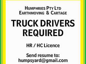 TRUCK DRIVERS REQUIRED