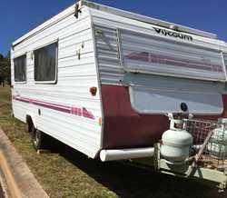VISCOUNT pop top caravan,  1996,  a/c,  twin beds,  3 way fridge,  r...