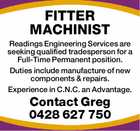FITTER MACHINIST