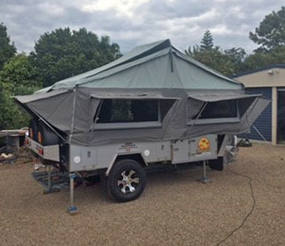 JAWA CRUISER Deluxe Camper Trailer Off-Road Forward Fold, hard floor, as new cond, extras include...