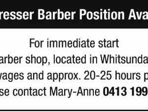 Hairdresser Barber position