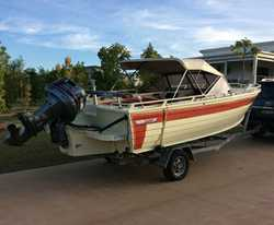 5.2M aluminium Quintrex Bow Rider, 115hp V4 Yamaha, depth & fish finder, on trailer, excellen...