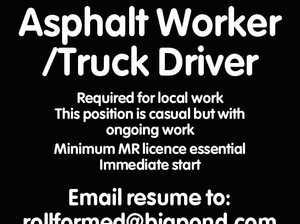 Asphalt Worker /Truck Driver