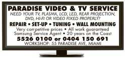 NEED YOUR TV, PLASMA, LCD, LED, REAR PROJECTION, DVD, HI-FI OR VIDEO FIXED PROPERLY?