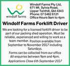 Windolf Farms Forklift Driver