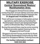 MILITARY EXERCISE Central Queensland Region / Rockhampton Area