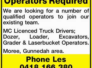 Operators Required