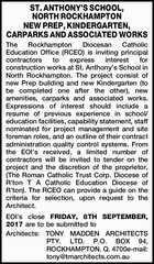 ST. ANTHONY'S SCHOOL, NORTH ROCKHAMPTON NEW PREP, KINDERGARTEN, CARPARKS AND ASSOCIATED WORKS